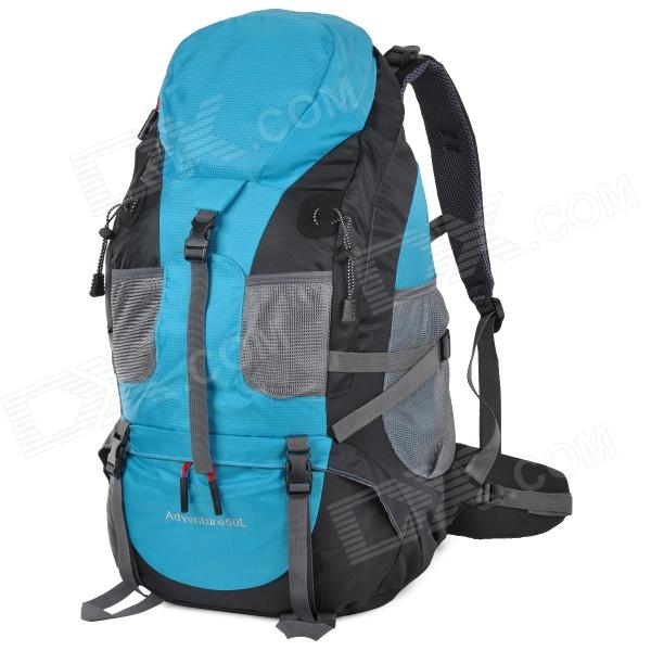 Creeper 3920 Professional Sports Mountaineer Travel Backpack - Blue + Black (50L) creeper 3920 outdoor nylon mountaineering backpack bag red black 50l