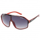 CARSHIRO C1211 Fashion UV400 Protection Plastic Frame Resin Lens Sunglasses - Black + Red