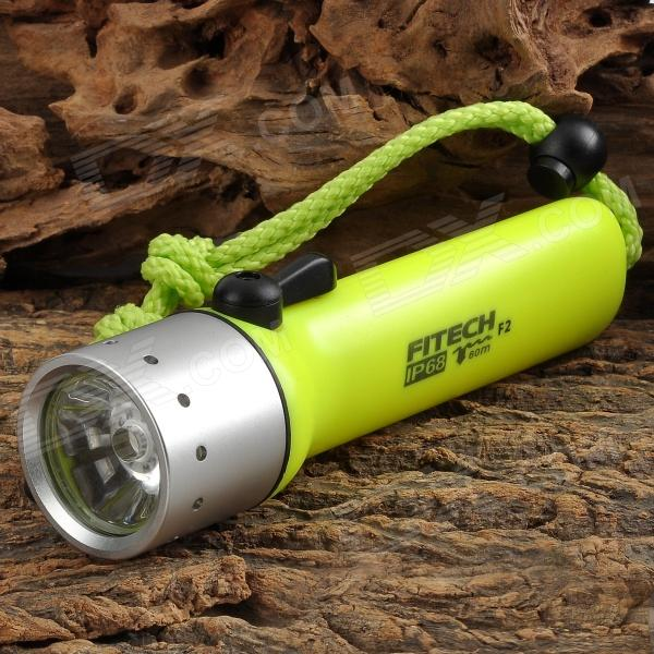 FITECH F2 LED 160lm 1-Mode Warm White Diving Flashlight - Light Green (4 x AA)