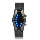 "WAT0953B  ""Sauron"" Style Inspired LED Digital Wrist Watch - Black Grey (2 x CR2016)"