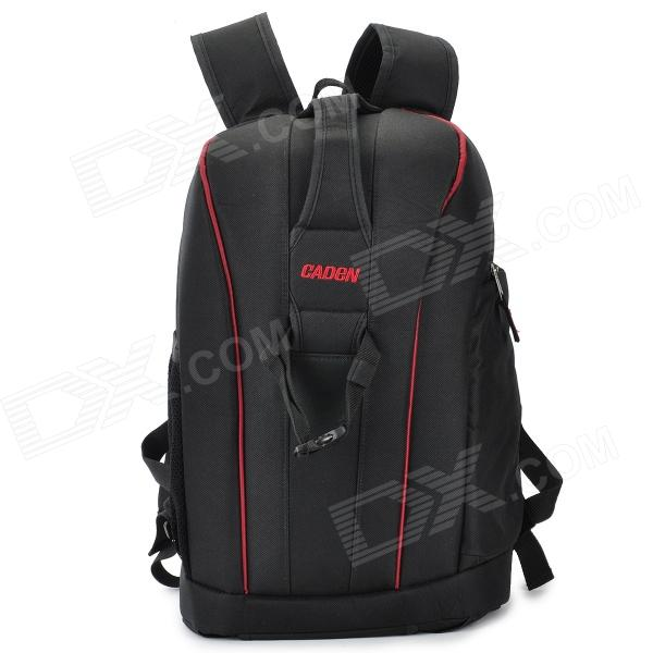 Caden K6 Nylon Digital SLR Camera Ryggsekk Bag for Canon 600D / 5D2 - Svart