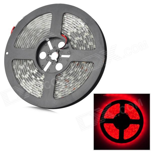 5050 Waterproof 72W 3000lm 300-5050 SMD LED Red Light Strip (5m / DC 12V) zdm waterproof 72w 200lm 470nm 300 smd 5050 led blue light strip white grey dc 12v 5m