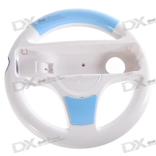 Racing Wheel Controller for Wii (White + Blue)