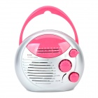 SAYIN SY-868 Waterproof ABS AM / FM Radio w/ Speaker - Dark Pink + Silvery Grey + Multicolored
