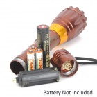 UltraFire MT-5 CREE XP-E Q5 100lm 3-Mode White Zooming Flashlight - Brown (1 x 18650 / 3 x AAA)