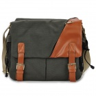 912 Convenient Canvas Camera Satchel Bag - Army Green