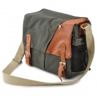 912 Pratique Caméra toile Sac besace - Army Green
