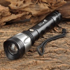 UltraFire LED 100lm 3-Mode White Zooming Flashlight - Black + Silver (1 x 18650)
