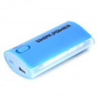 "SWPKPOWER 4467 Universal  Portable ""5200mAh"" Rechargeable Power Bank w/ Torch - Dark Blue + White"