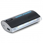 "SWPKPOWER 4467 Universal  Portable ""5200mAh"" Rechargeable Power Bank w/ Torch - Black + White"