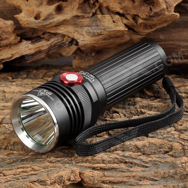 UltraFire F22 LED 500lm 2-Mode Dimming White Flashlight - Black (1 x 18650 / 3 x AAA)