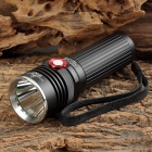 UltraFire F22 CREE XM-L2 T6 500lm 2-Mode Dimming White Flashlight - Black (1 x 18650 / 3 x AAA)