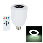 Bluetooth V3.0 3W 360lm 6000K LED Light Speaker w / IR-Fernbedienung - Weiß + Schwarz (AC 90-240V)