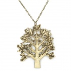 UBE UTY 1700 Retro Tree + Bird Style Zinc Alloy Necklace - Bronze