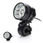 Buy ZHISHUNJIA ZSJ360-70 3800lm 3-Mode White Bicycle Headlamp - Black (6 x 18650)