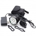 ZHISHUNJIA ZSJ360-70 3800lm 3-Mode White Bicycle Headlamp - Black (6 x 18650)