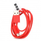 RIchino RS-M01 Micro USB Male to USB Male Charging Cable w/ Waterproof Case - Red (100 cm)
