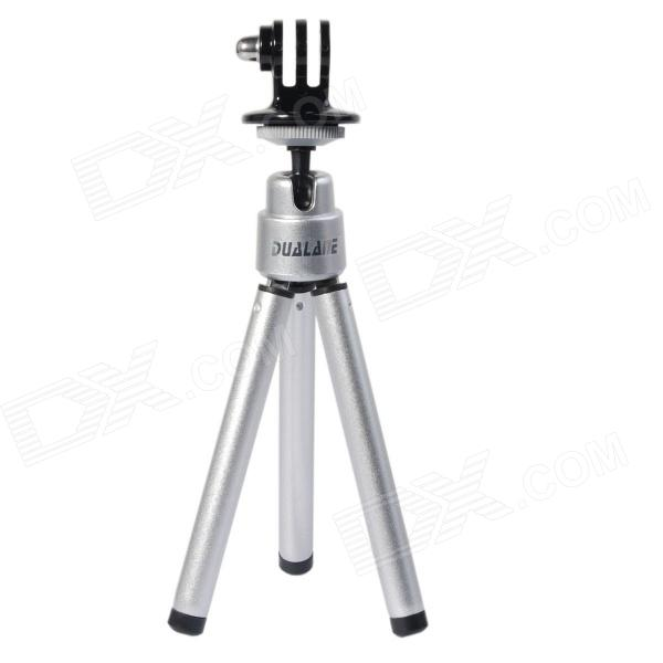 DUALANE -B Series Aluminum Alloy  Holder  Tripod  For GOPRO 2/3/3+,SONY AS15/AS30 - Silver