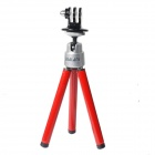DUALANE -B Series Aluminum Alloy  Holder  Tripod  For GOPRO 2/3/3+,SONY AS15/AS30 - Red