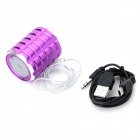 WEIKE WK-02-ZISE Stylish Portable Speaker w/ TF/ FM - Purple + Black (16GB Max.)