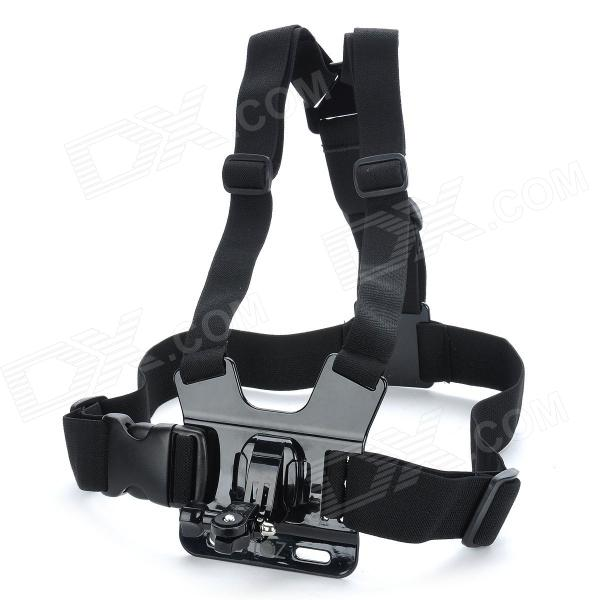 TOZ A Model Adjustable Chest Mount Harness Camcorder Shoulder Strap for Sony Action Cam -Black аксессуар sony aka wm1 wrist mount band for action cam