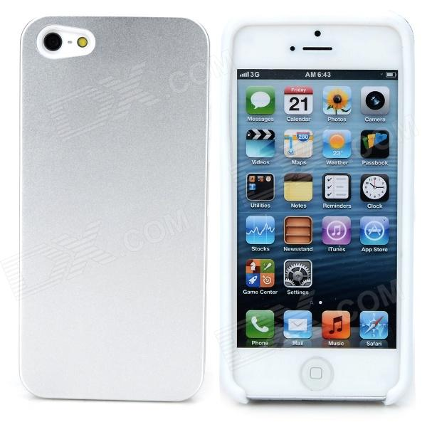 iLeAD i-2001 Stylish Metal + Silicone Back Case for IPHONE 5 / 5S - Silver