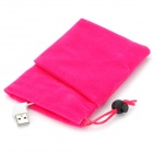USB Power Bank Powered Flannelette Pouch Hand Warmer - Deep Pink