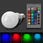 LetterFire N-003 E27 3W 25LM RGB LED Light Bulb - серебро + белый (AC 85 ~ 265V)