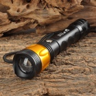 UltraFire MT-C05 CREE XP-E Q5 100lm 3-Mode Zooming White Flashlight - Black + Golden (1 x 18650)