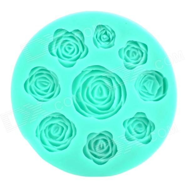 Convenient Handy Rose Style Silicone Cake Mould - Green diy decorative butterfly style fondant cake silicone module green