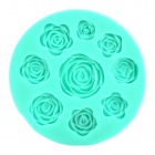 Convenient Handy Rose Style Silicone Cake Mould - Green
