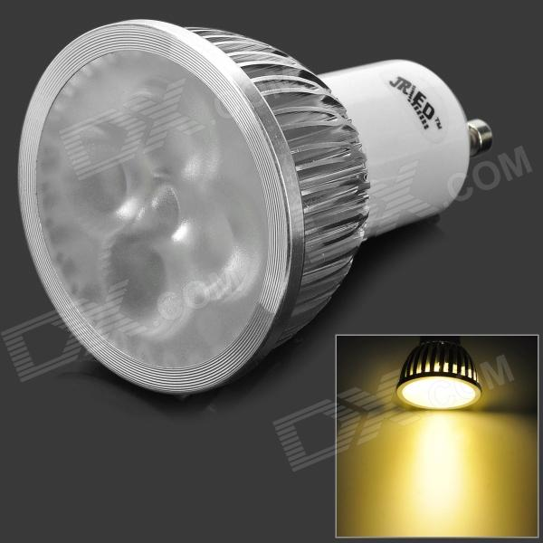 JRLED GU10 4W 300LM 3300K Warm White Dimmer Spotlight - White + Silver (AC 220V)
