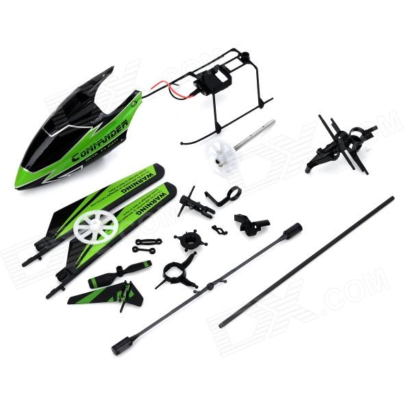 WLtoys KV911-0001 DIY Assembly Part for V911 / V911-1 R/C Helicopter - Green + Black (19 PCS)