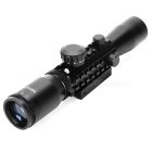 Tactica 2-7X32E R&G Illuminated Reticle Type Rifle Scope - Black (1 x CR2032)