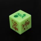Plástico Spoof Fun Dice - verde + azul (2 PCS)