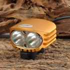 LetterFire 2 x CREE XM-L U2 1200lm 4-Mode White Bicycle Headlamp - Golden (4 x 18650)