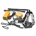 LetterFire 2-LED 1200lm 4-Mode White Bicycle Headlamp - Golden (4 x 18650)