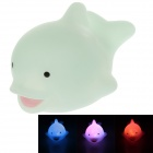 Creative Animals Series Dolphin Style LED Gadgets / Small Night Lamp - Transparent Blue (3 x AG10)