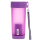 EYKI H5013 High-quality Leak-proof Frosted Bottle w/ Filter + Strap - Purple (350mL)