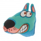 Lovely Smiling Dog Shape Pet Cat Toy - Multicolored