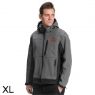 Sporttime Men's Windproof Rainproof Warm Mauntaineering Jacket - Grey (XL)