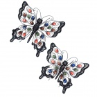 GuoMan Pastoralism Jewelled Butterfly Wall Decor / Wall Art Wall Hanging - Multicolored
