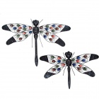 GuoMan Pastoralism Jewelled Dragonfly Wall Decor / Wall Art Wall Hanging - Multicolored