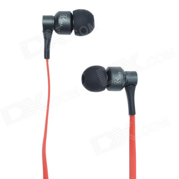 KaisiKing K-E02 HD Stereo In-Ear Earphones - Black + Red (3.5mm Plug / 119cm-Cable) fashion professional in ear earphones light blue black 3 5mm plug 120cm cable
