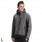 Sporttime Men's Windproof Rainproof Warm Jacket - Grey (Size L)