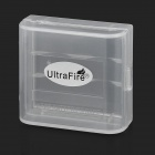 UltraFire 16340 / CR123A Battery Storage Case - Translucent White