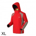 Sporttime Men's Windproof Rainproof Warm Mauntaineering Jacket - Red (XL)