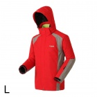 Sporttime Men's Windproof Rainproof Warm Mauntaineering Jacket - Red (L)