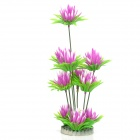 E4YK Decorative Aquarium Lifelike Artificial Water Plants for Fish Tank - Purple + Green