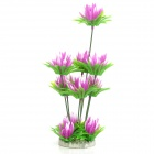 Decorative Aquarium Lifelike Artificial Water Plants for Fish Tank - Purple + Green
